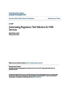Automating Regression Test Selection for Web Services