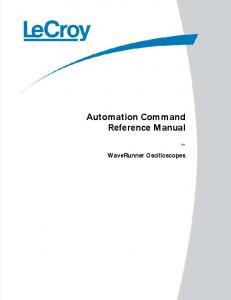 Automation Command Reference Manual