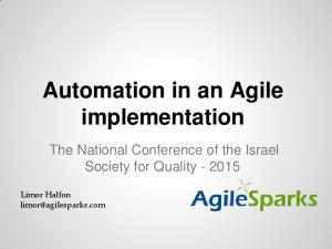 Automation in an Agile implementation