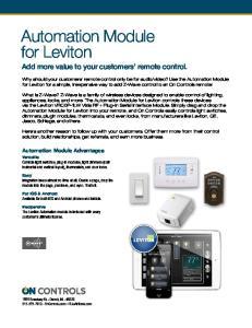 Automation Module for Leviton