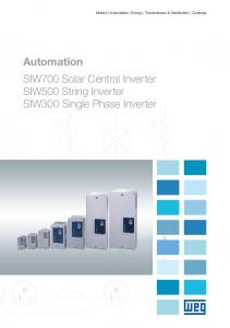 Automation SIW700 Solar Central Inverter SIW500 String Inverter SIW300 Single Phase Inverter
