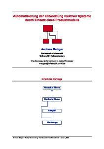 Automatisierung der Entwicklung reaktiver Systeme durch Einsatz eines Produktmodells