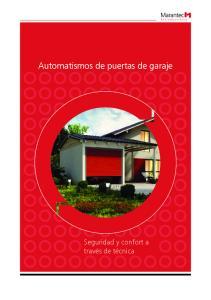 Automatismos de puertas de garaje