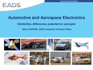 Automotive and Aerospace Electronics