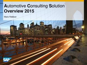 Automotive Consulting Solution Overview Mario Rebitzer