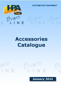 AUTOMOTIVE EQUIPMENT Accessories Catalogue January 2014