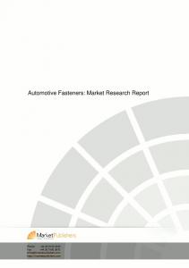 Automotive Fasteners: Market Research Report