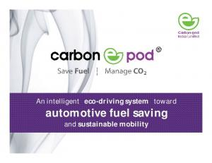 automotive fuel saving and sustainable mobility