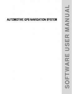 AUTOMOTIVE GPS NAVIGATION SYSTEM