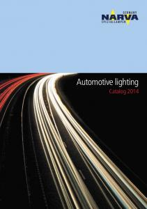 Automotive lighting Catalog 2014