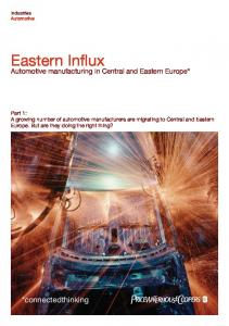 Automotive manufacturing in Central and Eastern Europe*