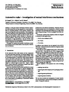 Automotive radar investigation of mutual interference mechanisms