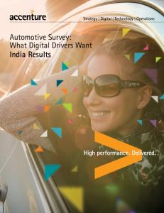 Automotive Survey: What Digital Drivers Want India Results