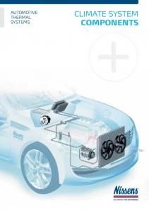 AUTOMOTIVE THERMAL SYSTEMS CLIMATE SYSTEM COMPONENTS