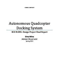 Autonomous Quadcopter Docking System
