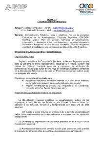 Autor: Prof. Rodolfo Valentini AFIP Cont. Andrea F. Rubano - AFIP -