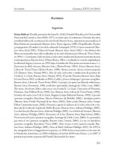 Autores. Argentina. Autores Gramma, XXVI, 54 (2015)