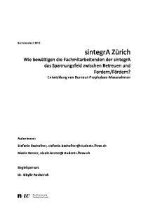 Autorinnen. Gugolzstrasse 6 Winkelstrasse Zürich 5726 Unterkulm Tel Tel Mobil Mobil