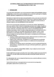 AUTORREGLAMENTO DE LOS PRESUPUESTOS PARTICIPATIVOS EN SOSTENIBILIDAD DE LA UCM