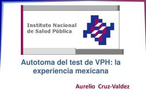 Autotoma del test de VPH: la experiencia mexicana