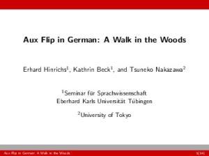Aux Flip in German: A Walk in the Woods