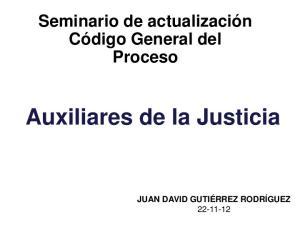 Auxiliares de la Justicia
