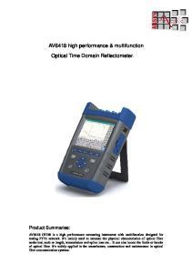 AV6418 high performance & multifunction. Optical Time Domain Reflectometer