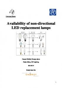 Availability of non-directional LED replacement lamps