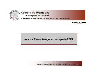 Avance Financiero, enero-mayo de 2009