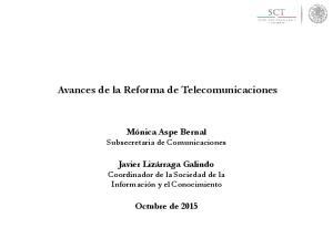 Avances de la Reforma de Telecomunicaciones