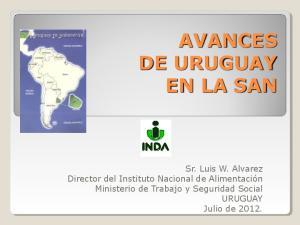 AVANCES DE URUGUAY EN LA SAN