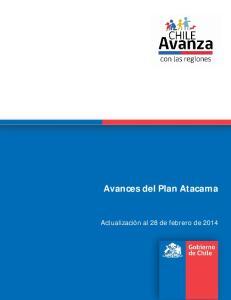 Avances del Plan Atacama