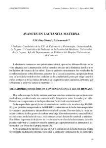 AVANCES EN LACTANCIA MATERNA