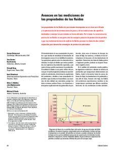 Avances en las mediciones de las propiedades de los fluidos