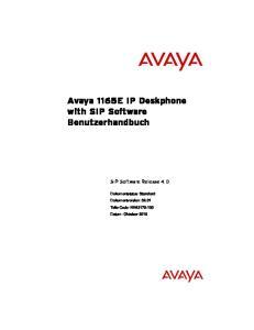 Avaya 1165E IP Deskphone with SIP Software Benutzerhandbuch. SIP Software Release 4.0
