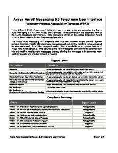 Avaya Aura Messaging 6.3 Telephone User Interface