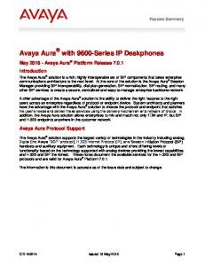 Avaya Aura with 9600-Series IP Deskphones