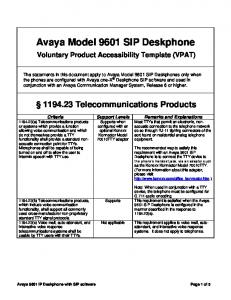 Avaya Model 9601 SIP Deskphone