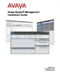 Avaya Scopia Management Installation Guide