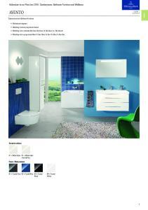 AVENTO. Addendum to our Price List Sanitaryware, Bathroom Furniture and Wellness. Sanitaryware and Bathroom Furniture