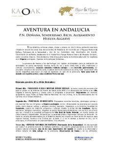 AVENTURA EN ANDALUCIA