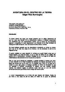 AVENTURA EN EL CENTRO DE LA TIERRA Edgar Rice Burroughs