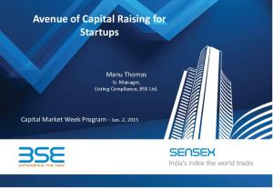 Avenue of Capital Raising for Startups