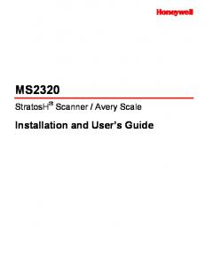 Avery Scale. Installation and User s Guide