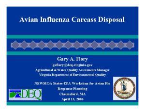 Avian Influenza Carcass Disposal