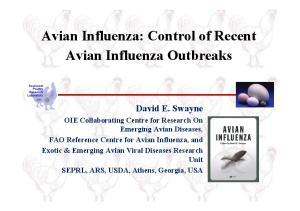 Avian Influenza: Control of Recent Avian Influenza Outbreaks