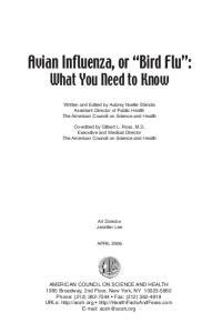 Avian Influenza, or Bird Flu :