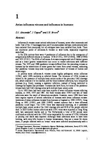 Avian influenza viruses and influenza in humans