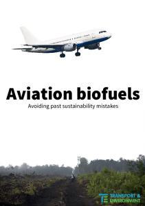 Aviation biofuels Avoiding past sustainability mistakes