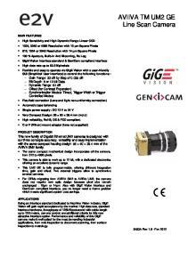 AVIIVA TM UM2 GE Line Scan Camera